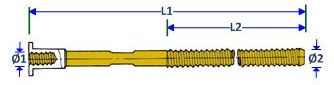 Form Tie BC Rod with Nut